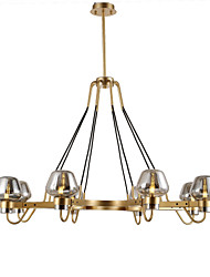 cheap -8-Light 99 cm Mini Style Chandelier Metal Glass Mini Electroplated Artistic / Traditional / Classic 110-120V / 220-240V