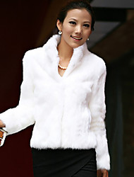 cheap -Long Sleeve Shrugs Faux Fur Wedding / Party / Evening Women's Wrap With Solid