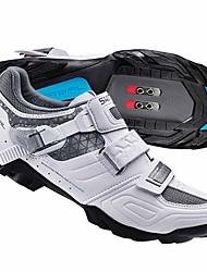 cheap -Adults' Mountain Bike Shoes Nylon, Fiberglass, Air-flow vents, Non-Slip tread Breathable Cushioning Ventilation Cycling / Bike Cycling Shoes White Women's Cycling Shoes / Ultra Light (UL)