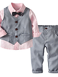 cheap -Toddler Boys' Basic Solid Colored Long Sleeve Cotton Clothing Set Blushing Pink