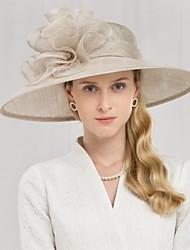 Недорогие -100% лен Кентукки дерби шляпа / Головные уборы с Цветы 1шт Свадьба / Особые случаи Заставка