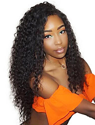 cheap -Remy Human Hair Full Lace Wig style Brazilian Hair Curly Wig 150% Density with Baby Hair Natural Hairline Bleached Knots Women's Long Human Hair Lace Wig