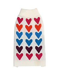 cheap -Dogs Cats Sweater Winter Dog Clothes White Costume Dalmatian Japanese Spitz Corgi Textile Print Heart Casual / Daily Keep Warm XS S M L XL