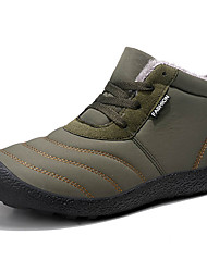 cheap -Men's Snow Boots Canvas / Synthetics Winter Vintage / Casual Boots Warm Booties / Ankle Boots Black / Blue / Khaki / Outdoor / Combat Boots / Desert Boots