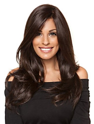 cheap -10 26 inch long straight wigs 100% Virgin human hair lace front wigs natural black color 130 density Women's Lace Wig