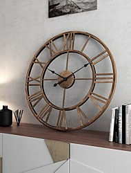 cheap -Fashion / Modern Contemporary Plastic & Metal Round Christmas / Classic Theme / Holiday Indoor / Outdoor Battery Decoration Wall Clock Analog Specification No 50cm*50cm