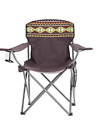 cheap -TANXIANZHE® Camping Chair with Cup Holder Portable Lightweight Anti-Slip Wearable Oxford Cloth Stainless steel for 1 person Fishing Beach Camping Autumn / Fall Spring Brown / Foldable