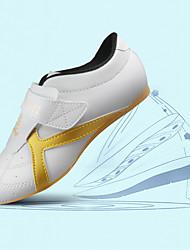 cheap -Women's Men's Taekwondo Shoes Flat Lightweight Breathable Soft Shockproof Artistic Style Karate Kung Fu Tai Chi Oxford All Seasons White