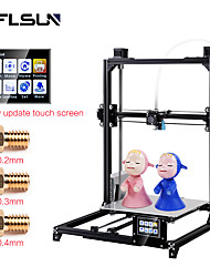 cheap -Flsun-C5 DIY 3D Printer KIT Large Printing Size 300*300*420mm Dual Extruder Touch Screen Auto Level Heated Bed
