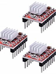 cheap -A4988 Stepstick Stepper Motor Driver Module Heat Sink for 3d Printer Reprap (Pack of 3 Pcs)