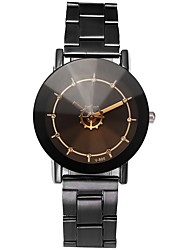cheap -Couple's Wrist Watch Quartz Stainless Steel Black Chronograph Casual Watch Lovely Analog Bangle Minimalist - Black Beige One Year Battery Life