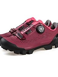 cheap -SANTIC Adults' Mountain Bike Shoes Breathable Anti-Slip Cushioning Cycling / Bike Cycling Shoes Black Burgundy Women's Cycling Shoes / Ventilation / Ventilation
