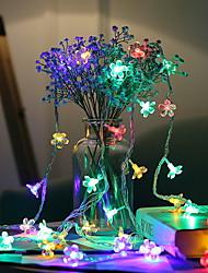cheap -3m String Lights 20 LEDs Multi Color Decorative AA Batteries Powered 1 set