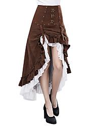 abordables -Déesse Steampunk Robe Femme Costume Café Vintage Cosplay Pantalon long