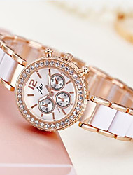 cheap -Women's Dress Watch Wrist Watch Diamond Watch Quartz Ivory Casual Watch Analog Ladies Elegant Minimalist - Rose Gold