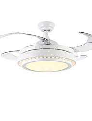 cheap -1-Light QINGMING® 108 cm LED Ceiling Fan Metal Painted Finishes Traditional / Classic / Modern 110-120V / 220-240V