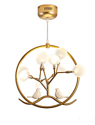 cheap -1-Light 36 cm Creative Chandelier Metal Circle Painted Finishes LED / Modern 110-120V / 220-240V