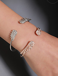cheap -Women's Cuff Bracelet Classic Wings Simple Korean Fashion Imitation Diamond Bracelet Jewelry Gold / Silver For Daily Street
