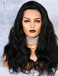cheap -Virgin Human Hair Lace Front Wig Deep Parting Side Part style Brazilian Hair Body Wave Natural Wig 250% Density with Baby Hair Hot Sale Thick Women's Long Human Hair Lace Wig