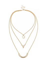 cheap -Women's Pendant Necklace Rope Stacking Stackable Statement Ladies Artistic Dangling Copper Alloy Gold 55 cm Necklace Jewelry 1pc For Masquerade Office & Career