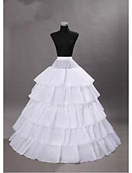 cheap -Princess Dress Petticoat Hoop Skirt Tutu 1950s Gothic Medieval White / Layered / Under Skirt / Crinoline