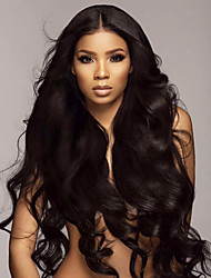 cheap -Remy Human Hair Lace Front Wig Deep Parting style Brazilian Hair Water Wave Natural Wig 130% 150% 180% Density with Baby Hair Natural Best Quality Hot Sale Thick Women's Very Long Human Hair Lace Wig