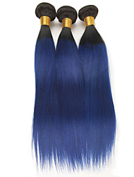 cheap -3 Bundles Brazilian Hair Straight Remy Human Hair Human Hair Extensions 10-26 inch Human Hair Weaves Soft Best Quality New Arrival Human Hair Extensions / 10A
