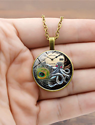 cheap -Men's Pendant Necklace Classic Animal Vintage Trendy Steampunk Glass Alloy Black Gold Silver 45+5 cm Necklace Jewelry 1pc For Street Club