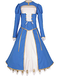 cheap -Inspired by Fate / Stay Night Altria Pendragon Anime Cosplay Costumes Japanese Cosplay Suits Simple Solid Colored Dress More Accessories Costume For Unisex