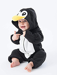 cheap -Baby Boys' Active / Basic Daily / Sports Black & White Color Block Long Sleeve Cotton Romper Black / Toddler