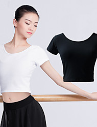cheap -Ballet Tops Women's Training / Performance Lycra / 100% Cotton Gore Short Sleeve Top