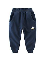 cheap -Kids Boys' Basic Daily Sports Blue & White Print Drawstring Sleeveless Cotton Pants Light Blue