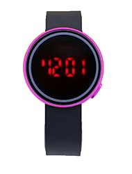 cheap -Couple's Digital Watch Digital Silicone Black Calendar / date / day Noctilucent Digital Casual - Red Green Golden