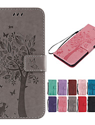 cheap -Case For Samsung Galaxy J6 / J4 Wallet / Card Holder / with Stand Full Body Cases Solid Colored / Cat / Tree Hard PU Leather for J8 / J7 Duo / J7 Prime