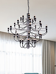 cheap -Ecolight 95 cm Creative Candle Style Chandelier Metal Candle-style Electroplated Artistic Chic & Modern 110-120V 220-240V