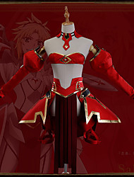 cheap -Inspired by Fate / Grand Order FGO Mordred Anime Cosplay Costumes Japanese Cosplay Suits Art Deco Novelty Skirt Corset Cloak For Unisex / More Accessories / More Accessories