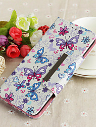 cheap -Case For Apple iPhone 7 Plus Wallet / Card Holder / Flip Back Cover Butterfly Hard PU Leather