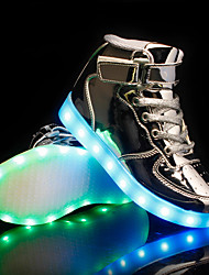 cheap -Boys USB Charging  LED / LED Shoes PU Sneakers Kids / Teenager Black / Gold / Silver Fall / Rubber