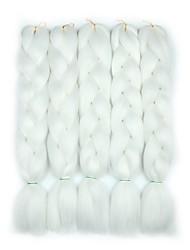 cheap -Crochet Hair Braids Jumbo Box Braids Dark Gray Black Synthetic Hair 24 inch Braiding Hair 5 Pieces