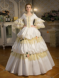 cheap -Fairytale Princess Gothic Lolita Dress Outfits Party Costume Masquerade Women's Costume White Vintage Cosplay Party Prom 3/4 Length Sleeve