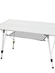 cheap -TANXIANZHE® Camping Table Mini Retractable Ultra Light (UL) Foldable Oxford Cloth Aluminium alloy for Fishing Beach Camping Autumn / Fall Spring Silver