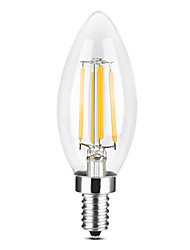 cheap -YWXLIGHT® 1pc 4 W LED Candle Lights LED Filament Bulbs 300-400 lm E14 C35 4 LED Beads COB Christmas Wedding Decoration Warm White Cold White 220-240 V