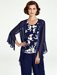 abordables -Manches Longues Mousseline de soie Mariage / Fête / Soirée Etoles de Femme Avec Lacet / Couleur Unie Manteaux / Vestes