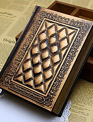 abordables -cahier à notes fait main en cuir style gospel gaufré b6
