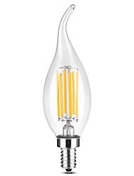 cheap -YWXLIGHT® 1pc 6 W LED Candle Lights LED Filament Bulbs 500-600 lm E14 C35 6 LED Beads COB Warm White White 220-240 V