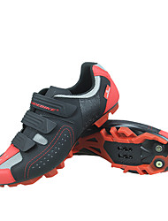 cheap -SIDEBIKE Adults' Mountain Bike Shoes Breathable Anti-Slip Cushioning Cycling / Bike Cycling Shoes Black / Red Men's Cycling Shoes / Ventilation / Ventilation / Hook and Loop