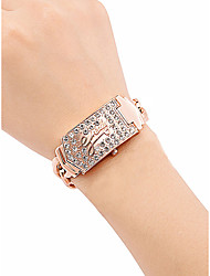 cheap -Women's Luxury Watches Wrist Watch Diamond Watch Quartz Stainless Steel Rose Gold 30 m Water Resistant / Waterproof New Design Analog Ladies Vintage Fashion - Silver Rose Gold