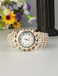cheap -FEIS Women's Bracelet Watch Quartz Silver Chronograph Analog - Digital Ladies Fashion - Coffee