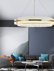 cheap -1-Light 40/60 cm Crystal Chandelier Gold Circle Pendant Light Luxury Adjustable Novelty Aluminum Painted Finishes Artistic Modern 110-120V 220-240V
