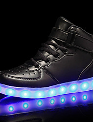 cheap -Boys' LED / LED Shoes / USB Charging PU Sneakers LED Shoes Little Kids(4-7ys) / Big Kids(7years +) Luminous White / Black / Red Fall / Rubber